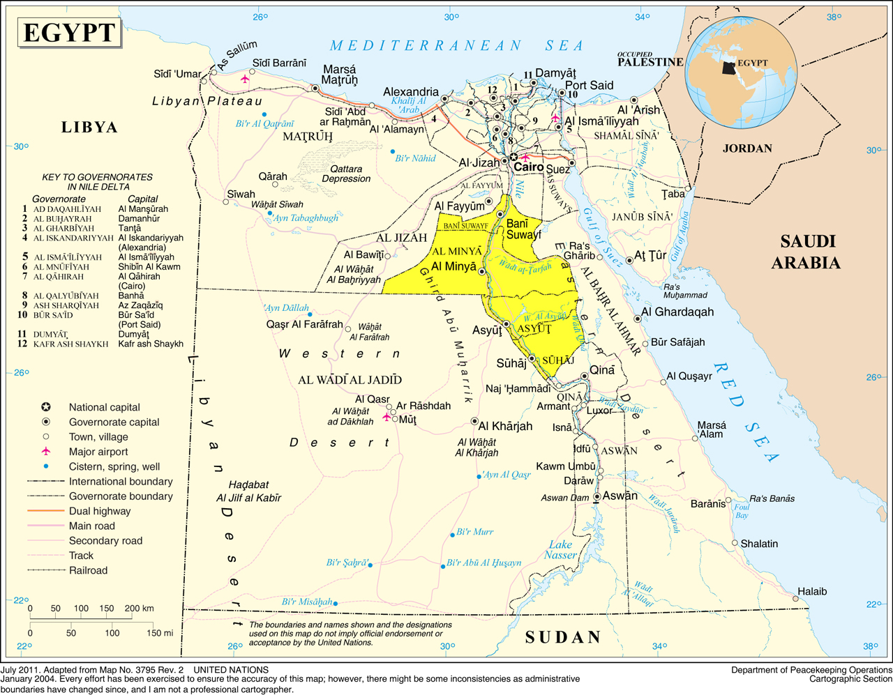 The Nile Valley Middle Egypt - Where is egypt