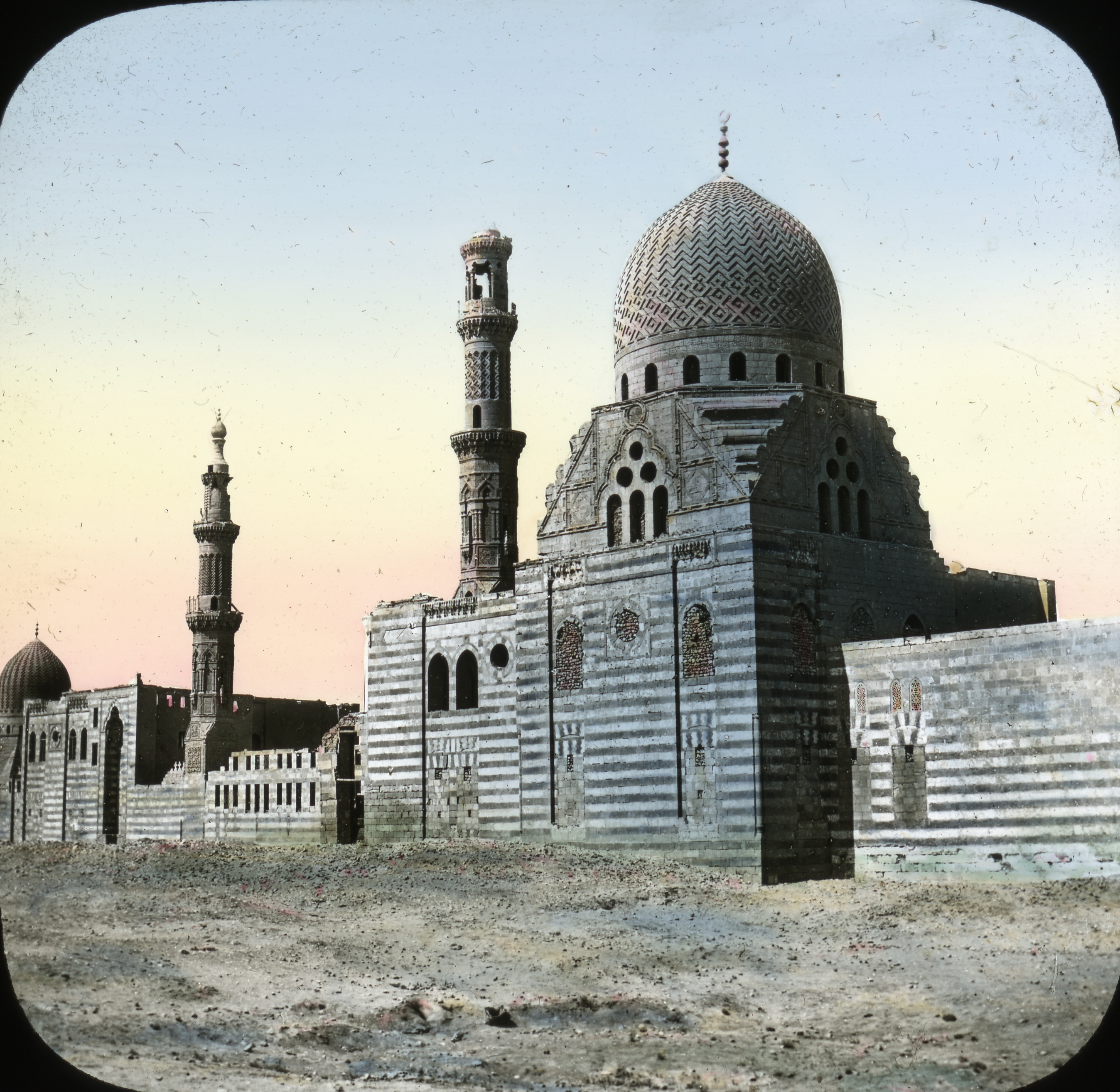 Egypt: Tomb of Caliphs, Old Cairo. Brooklyn Museum Archives. Lantern Slide Collection.