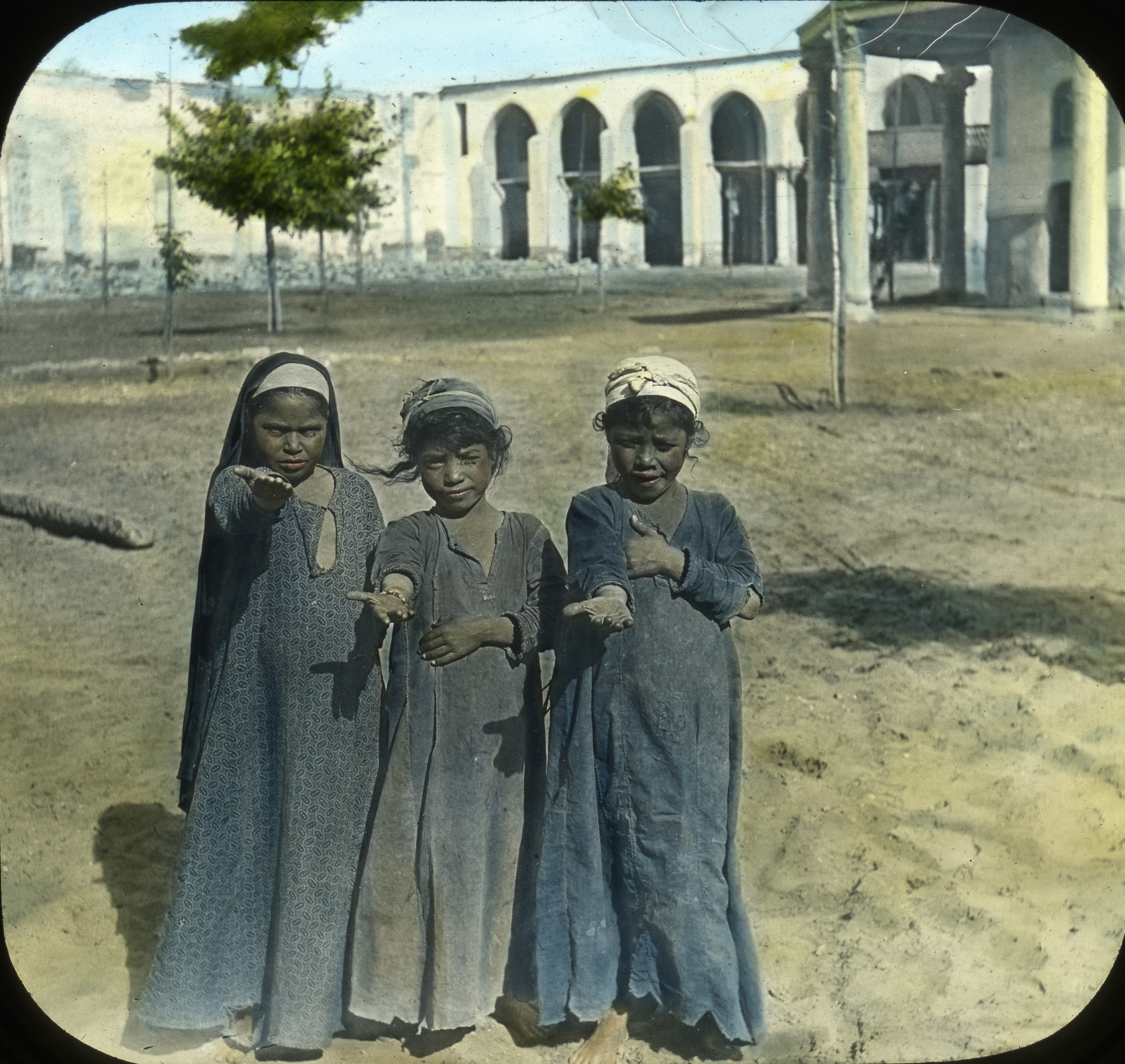 Egypt - Egyptian Girls (I have no doubt in my mind that this photograph with all its insinuations was staged---Editor)