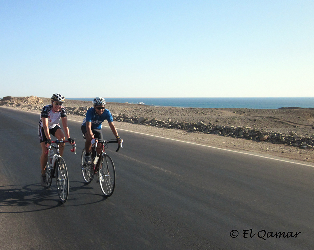 El Qamar and cycling partner Michael
