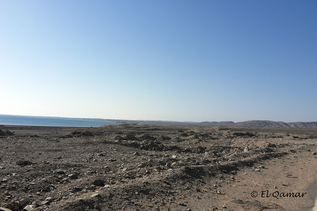 Rocky beaches of the Red Sea