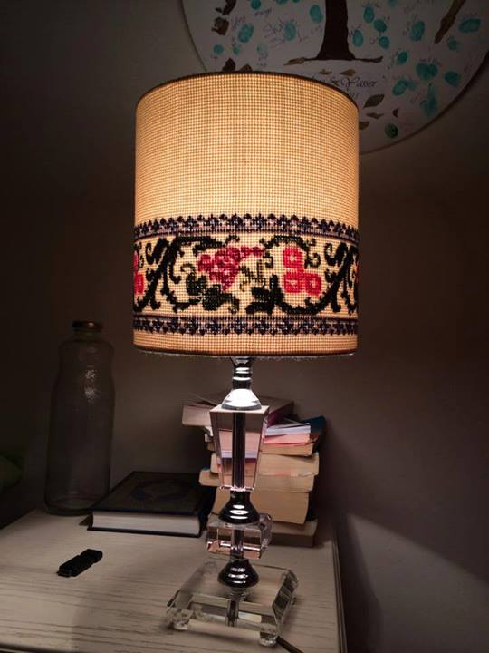 Who said Lamp shades can't be handmade into elegant works of art?