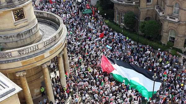 Largest pro-Gaza protest In history reached 150,000. It took place on Saturday August 9th, 2014. Courtesy of Counter Current News.