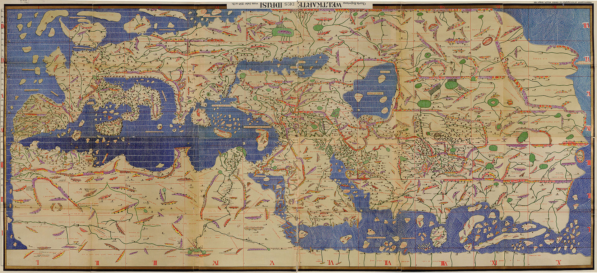 ALIDRISI Th Century CE Th Century AH GEOGRAPHER AND - World map la