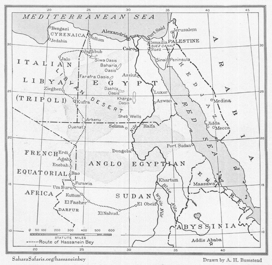 hassanein1924natgeog-p236-map